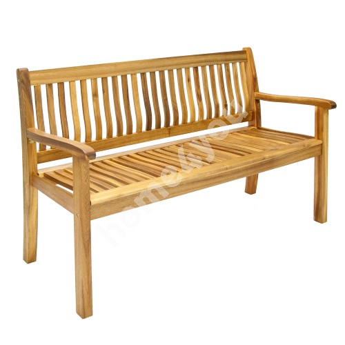Bench FINLAY 150x61xH91cm, wood: acacia, finish: oiled