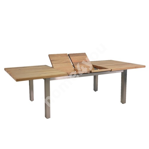 Table NAUTICA 200/250/300x100xH76cm, table top: teak, finishing: rustic, not oiled,  stainless steel  legs