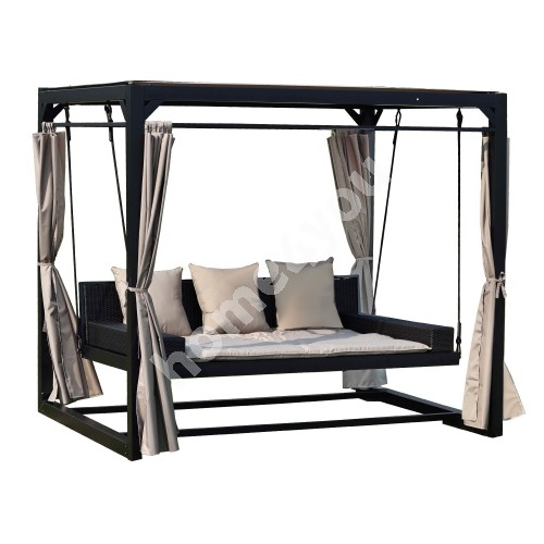 Swing gazebo BARCELONA brown
