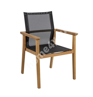 Tool NAUTICA must 64x65xH90cm, textiline iste, tiikpuidust raam