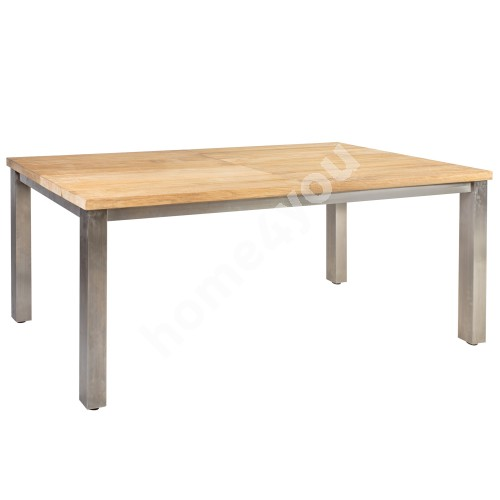 Table NAUTICA 200/300x100xH76cm, table top:  teak, finishing: rustic, not oiled, stainless steel  legs