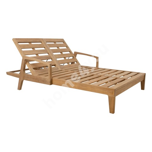 Deck chair MALDIVE 2-seater 210x138xH33cm, teak