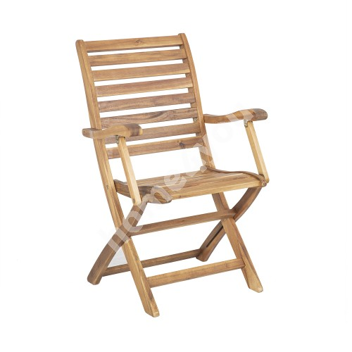 Chair CHERRY light brown with armrests
