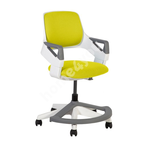 Children's chair ROOKEE 64x64xH76-93cm, yellow, white plastic shell