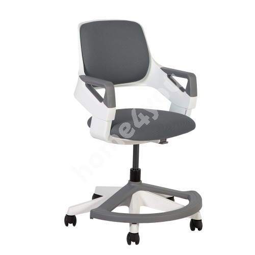 Children's chair ROOKEE 64x64xH76-93cm, grey, white plastic shell