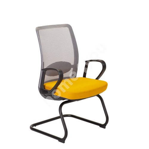 Guest chair ANGGUN 60x57xH99cm, yellow / grey