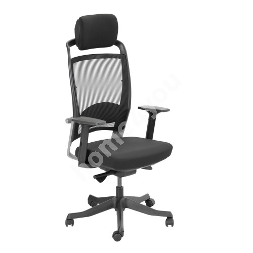 Task chair FULKRUM 62x70xH114-129cm, black