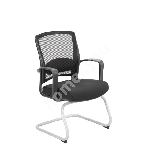 Guest chair FULKRUM 61x57xH93cm, black