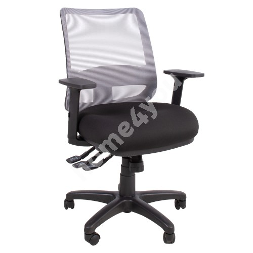 Task chair SAGA 65,5x64xH94,5-114cm, black
