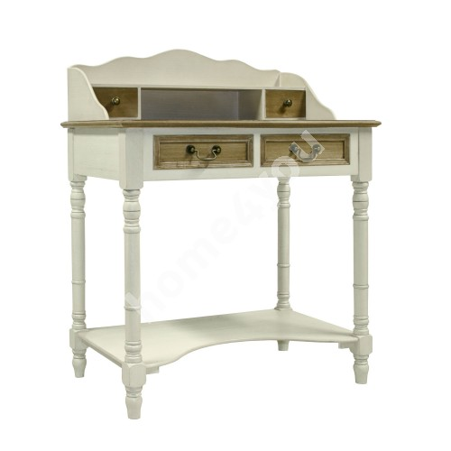 Dressing table SAMIRA 80x48xH101cm, color: antique white / brown