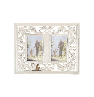 Pildiraam 2x SAMIRA WAT, 38×29cm, materjal: puit, värvus: antiikvalge