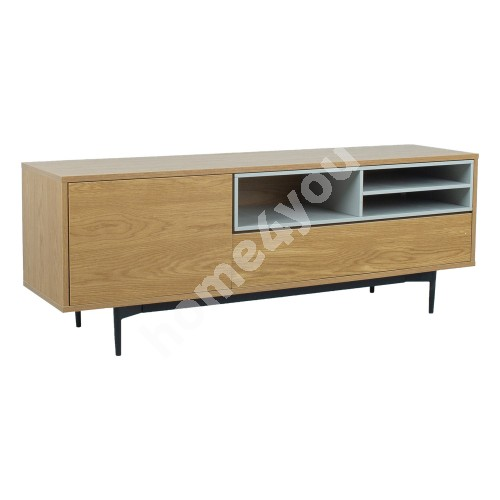 TV-table DELANO 152x41,5xH55cm, MDF oak / grey