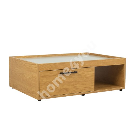 Журнальный столик BLOCK 98x70xH32см, МДФ дуб / серый