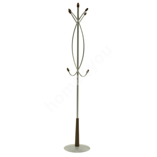 Hanger BEN 36x34xH180cm, color: silver, with wooden details
