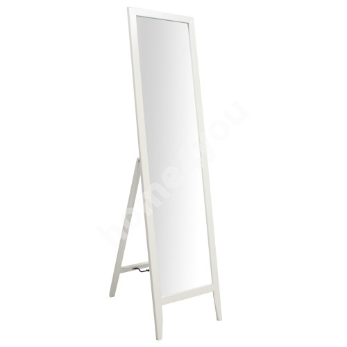 Floor mirror GERDA 35x44,5xH134cm, wooden frame, color: white
