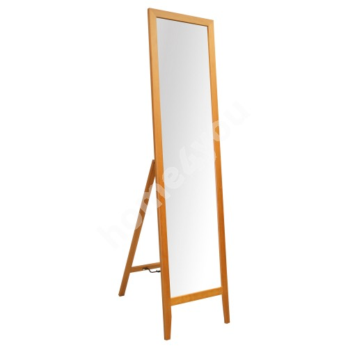 Floor mirror GERDA 35x44,5xH134cm, wooden frame, color: cherry