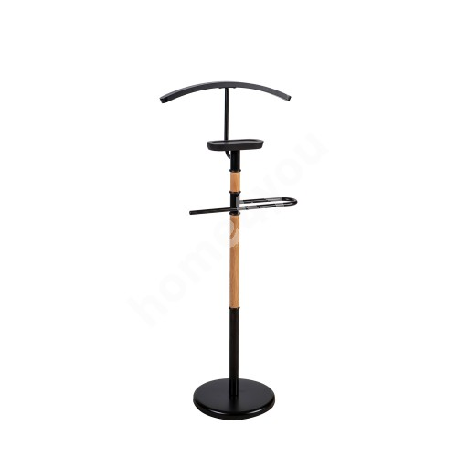 Suit stand FOREST 45x28xH110cm, material: steel / wood, color: black / natural