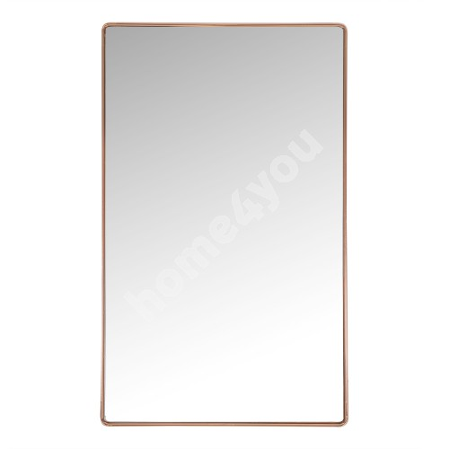 Wall mirror CRYSTAL with safety film 50x80x3,6cm, copper color steel frame