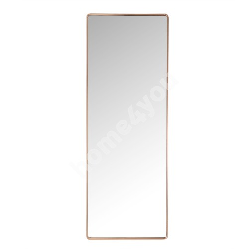 Wall mirror CRYSTAL with safety film 36x100x3,5cm, copper color steel frame