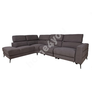 Corner sofa MERCADO VN, electric recliner, grey