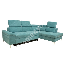 Corner sofa bed ROSELANI RC 267x105/200xH84cm blue