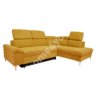 Corner sofa bed ROSELANI RC 267x105/200xH84cm dark yellow
