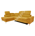 Corner sofa bed ROSELANI LC 267x200/105xH84cm dark yellow