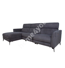 Corner sofa MILDRED LC, electric recliner, grey
