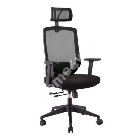 Рабочий стул JOY 64x64xH115-125см, сиденье: ткань, спинка: сетка-ткань, цвет: чёрный