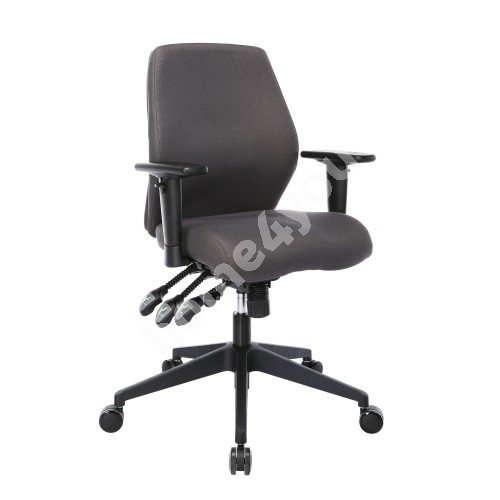 Task chair SMART 61x55-60xH94-103cm,  seat and back rest: fabric, color: grey