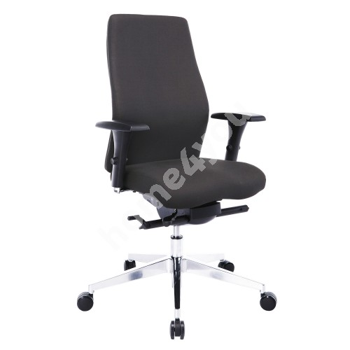 Task chair SMART PLUS 60x59-64xH110,5-119,5cm, seat and back rest: fabric, color: grey