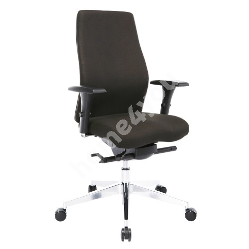 Task chair SMART PLUS 60x59-64xH110,5-119,5cm, seat and back rest: fabric, color: black