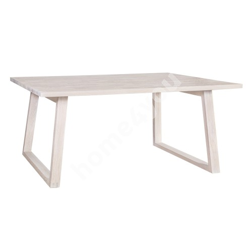 Dining table OXFORD 200x100xH75cm, table top: particle board with natural oak veneer, finishing: white oiled