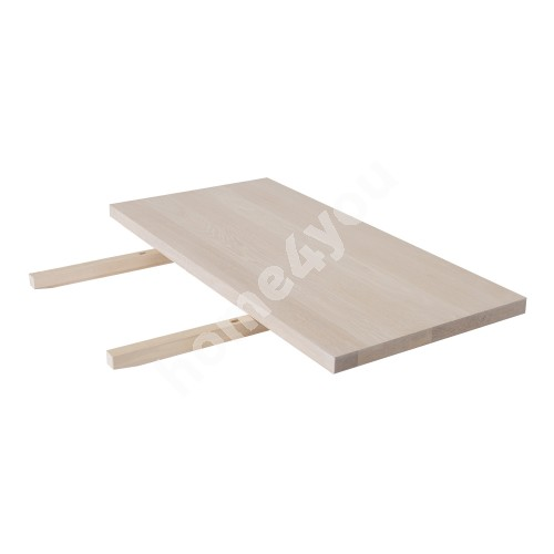 Extension plate OXFORD 50x100cm, particle board with natural oak veneerl, finishing: white oiled