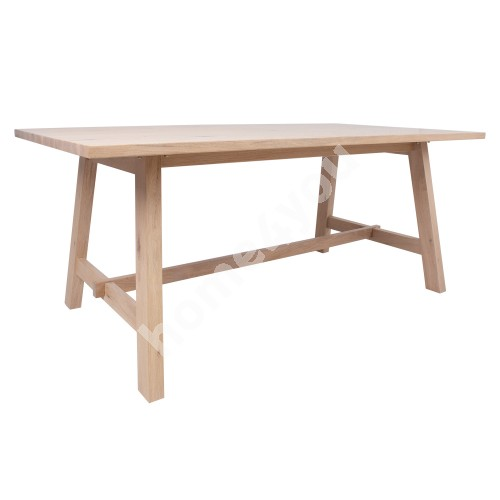 Dining table BERGEN 220x95xH75cm, natural oak veneer