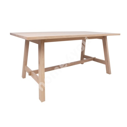 Dining table BERGEN 180x95xH75cm, natural oak veneer