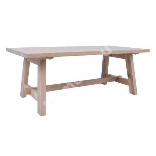 Coffee table BERGEN 120x60xH45cm, natural oak veneer