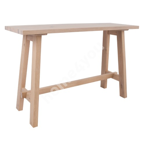 Side table BERGEN 120x40xH75cm, natural oak veneer