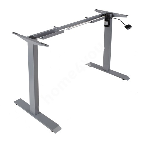 Table leg ERGO electric adjustable, one motor, silver grey