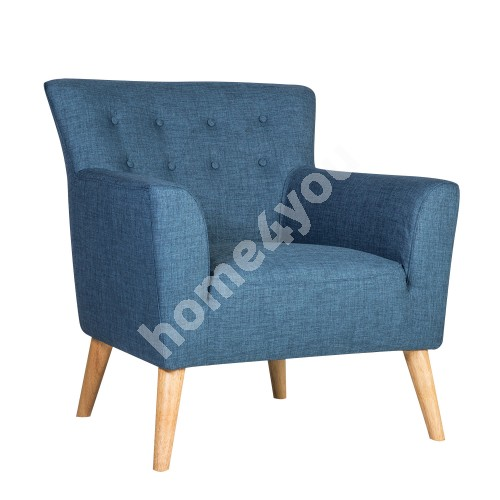 Arm chair MOVIE 83x76xH83cm, cover material: fabric, color: blue