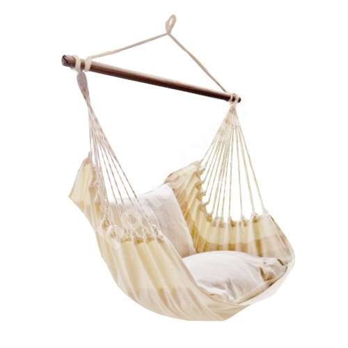 Swing chair TIERRA natural white