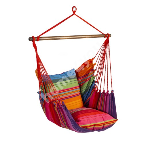 Swing chair NIKOLINA red striped