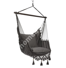 Swing chair TASSEL GREY grey