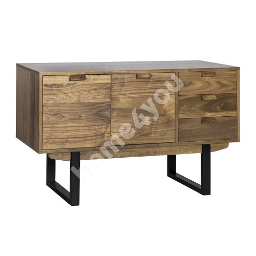 Side board SOHO 2-doors and 3-drawers 140x45xH75cm, legs and frame: rubber wood, panels: furniture board: with walnut