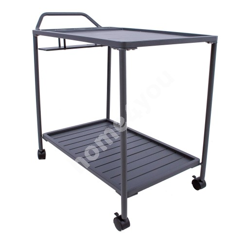 Serving trolley MAGIC 88x44xH80cm, dark grey