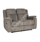 Diivan NORMAN 2-kohaline mehaaniline recliner 160x99xH102cm, kattematerjal: kangas, värvus: pruunikashall
