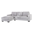 Corner sofa KENDRA left corner 268x89/165xH84cm, cover material: fabric, color: light grey