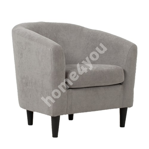 Armchair WESTER 76x68,5xH74cm, grey fabric