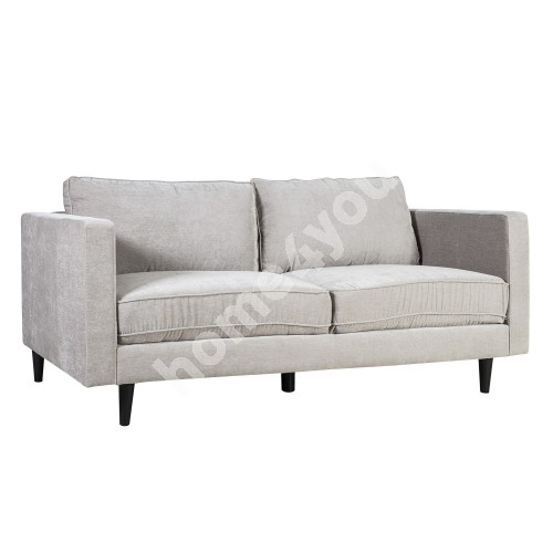 Sofa SPENCER 3-seater 198x86xH86cm, cover material: velvet fabric, color: light grey, dark plastic legs