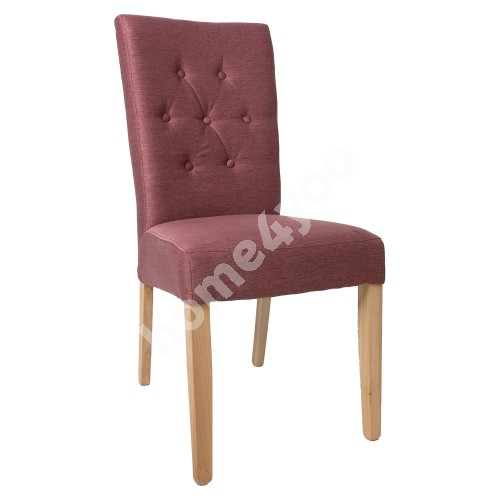 Chair QUEEN 64x46xH102cm, rose taupe